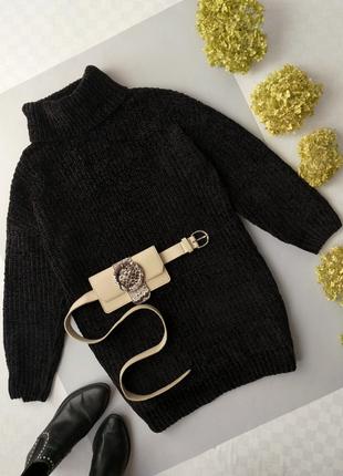 Платье свитер бархатный р.10-12