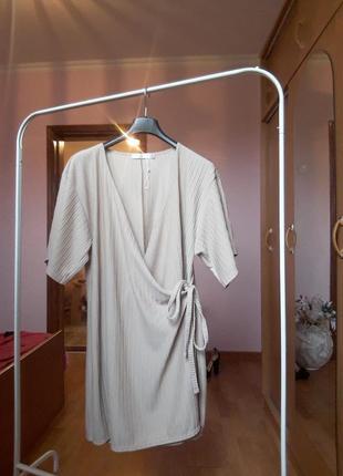 Платье в рубчик. большой размер.
