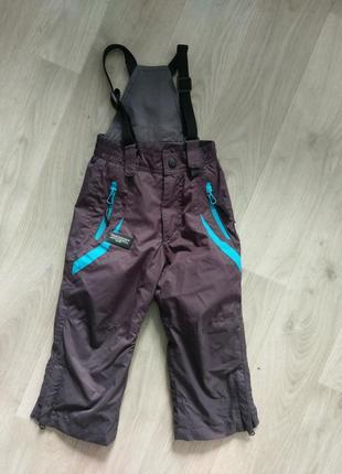 Полукомбинезон штаны на подтяжках плащевка хб