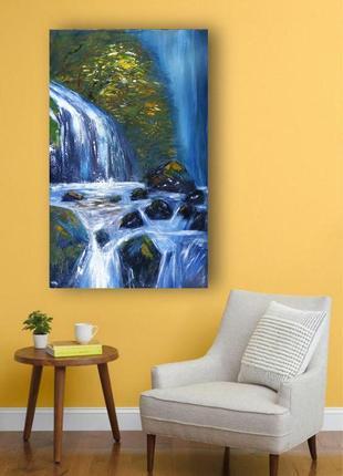 """Картина """"поток"""", 80х50 см, акрил (есть видео создания картины - рождения """"потока"""")"""