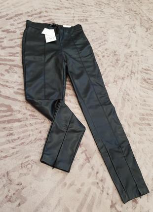 Нові штани з шкірозамінника фірми zara.