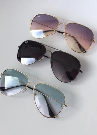 Женские солнцезащитные очки ray ban авиаторы