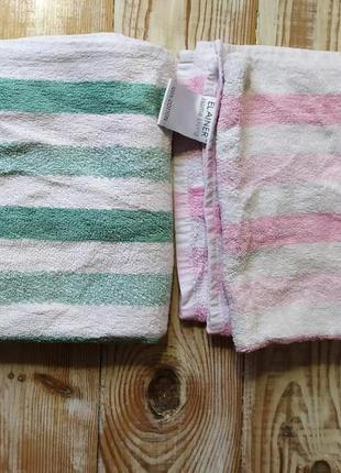 Натуральные полотенца-комплект из 2 штук  50*85 цена за комплект