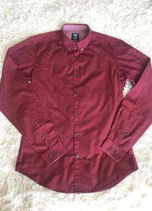 Красная мужская рубашка newyorker