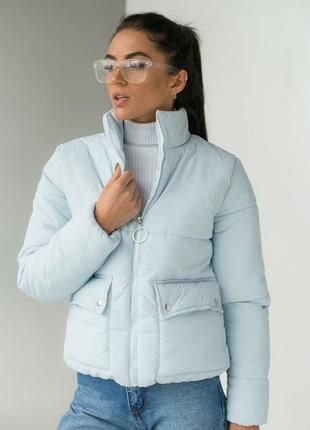 Модная куртка-пуховик. демисезонная. теплая. 4 цвета