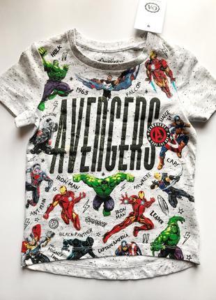 Акция. футболка с принтом marvel avengers от c&a 98 см