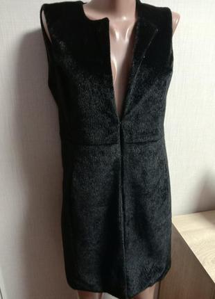 Модная удлиненная жилетка эко мех