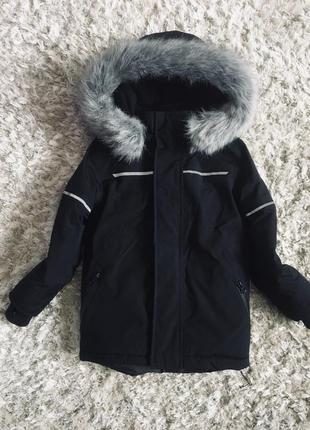 Теплая зимняя куртка, парка matalan, указано 4 года
