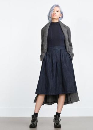 Шикарная джинсовая юбка zara