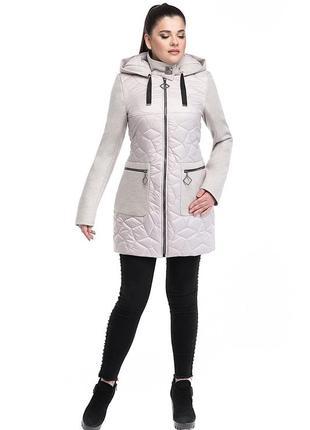 Комбинированная женская куртка р 48 - 58