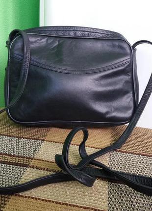 Стильная кожаная сумка кроссбоди на плечо jane shilton - 100% натуральная кожа