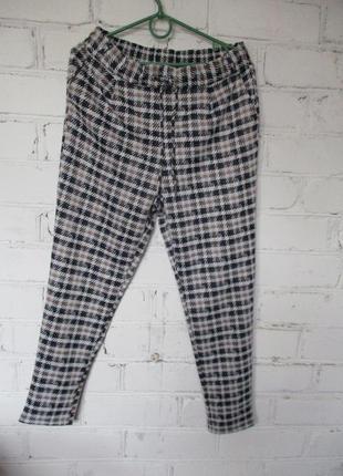 Штаны трикотажные/брюки в гусиную лапку/джоггеры