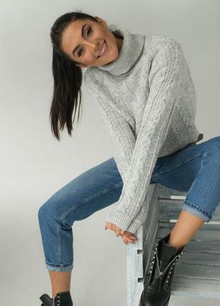Короткий свитер вязки косичка. 5 цветов. премиум качество. супер цена!