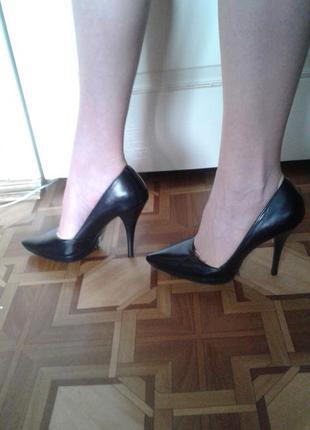 Кожаные туфли basconi 38 р