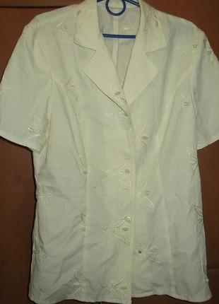 Удлиненная блузка, красивая ткань,l-xl