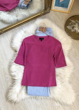 Обнова👋🏽 базовая кофта футболка в рубчик женская от topshop s-m