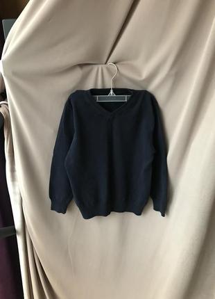 Детский классический синий джемпер пуловер школьный свитер george разм 110-116 см