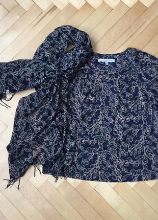 Комплект: блуза и шарф