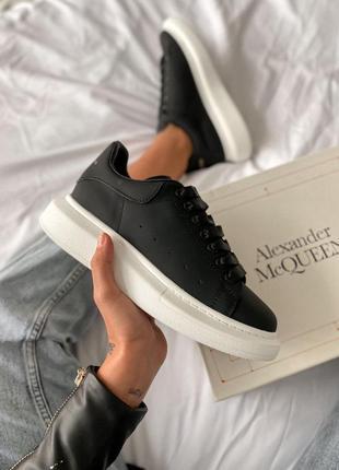 Кросівки alexander mcqueen black/white кроссовки