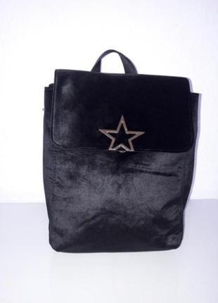 Красивый бархатный рюкзачок
