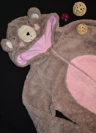 Супер-теплая флисовая пижама/комбинезон/человечек/слип мишка george р.152\158\164