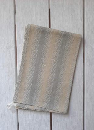 Льняное полотенце, в полоску, кухонний рушник, полотенце кухонное 60х46 италия