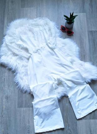 Шикарные белый кружевной комбинизон 🤩