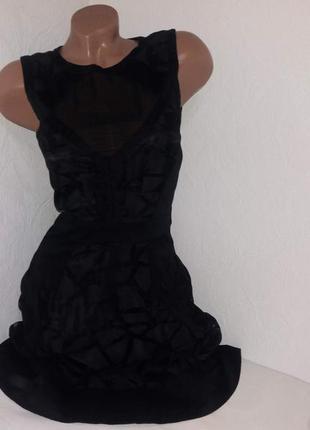 Супер стильное черное платье warehouse  р-р 6.