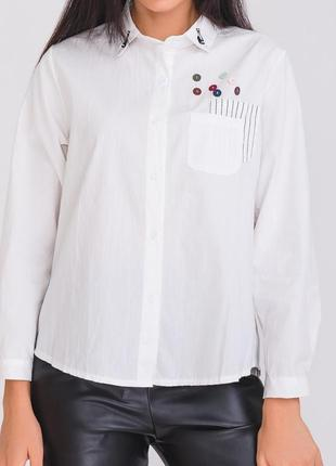 "Рубашка белая ""кот"""