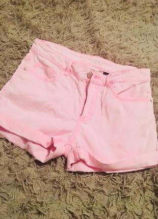 Розовые шорти h&m