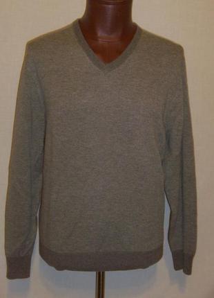 Пуловер  daniel cremieux -шерсть с кашемиром xl