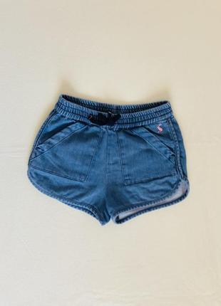 Джинсовые шорты,шортики. 5-6 лет