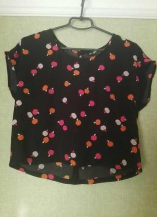 Блуза в яблочки / кроп топ / футболка оверсайз