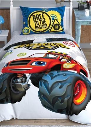 Комплект детского постельного белья чудо машинки,вспыш