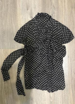 Шелковая рубашка massimo dutti