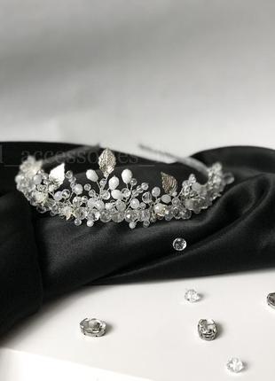 Корона диадема тіара діадема невеста свадьба hand made