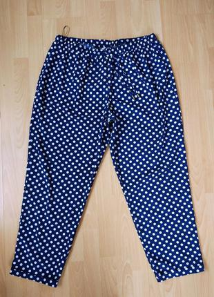 Легкие летние штанишки в горошек в пижамном стиле свободный крой