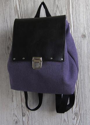 Небольшой фиолетовый рюкзак с эко-кожей