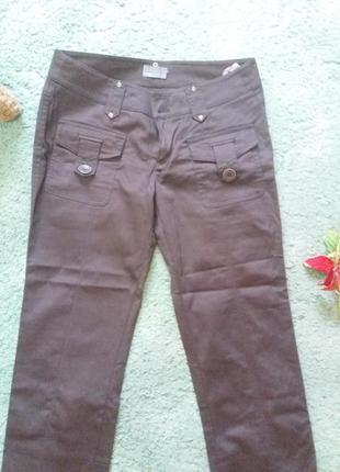 Стильні вкорочені штанці шоколадного кольору :)
