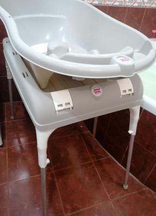 Итальянская ванночка с подставкой-пелеленатором.