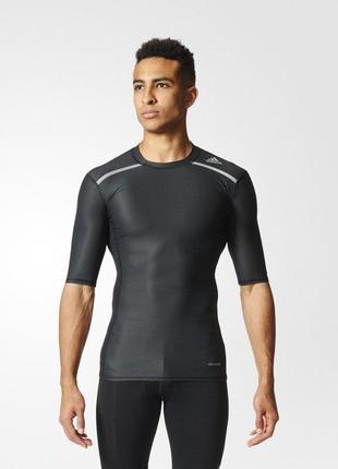 Компресионная футболка для бега adidas techfit.торг!!