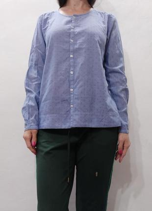 Хлопковая блуза свободного кроя