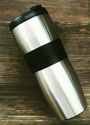 Оригинал! термокружка starbucks стальная с силиконовым ободком 355мл