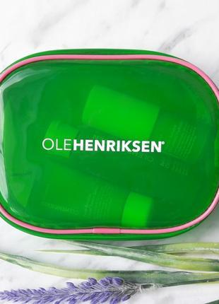 Косметичка olehenriksen зеленого цвета, полупрозрачная