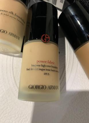 Тональная основа, тональный крем giorgio armani power fabric, оригинал
