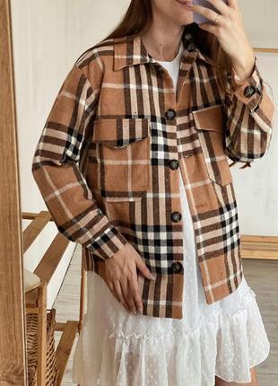 Куртка-рубашка на подкладке в клетку