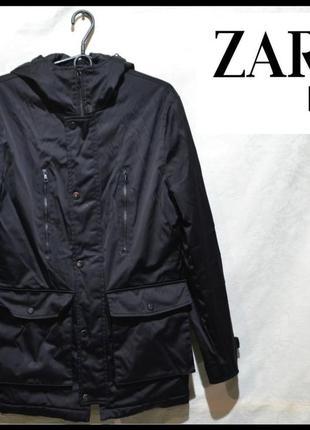 Куртка чоловіча zara man s-l [іспанія] (парка мужская)