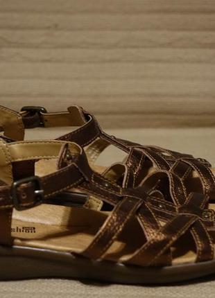 Красивые открытые кожаные босоножки бронзового цвета clarks англия 6 р.