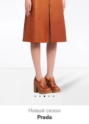 Туфли кожаные квадратный носок турция
