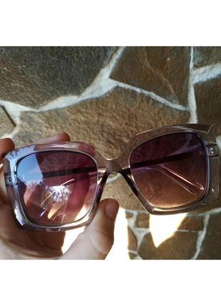 Очки chanel италия квадратные женские солнцезащитные в прозрачной оправе